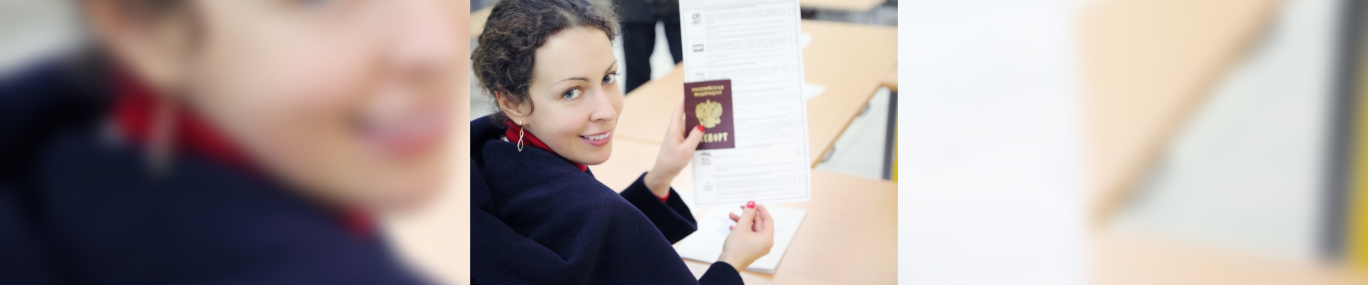tourist holding her passport